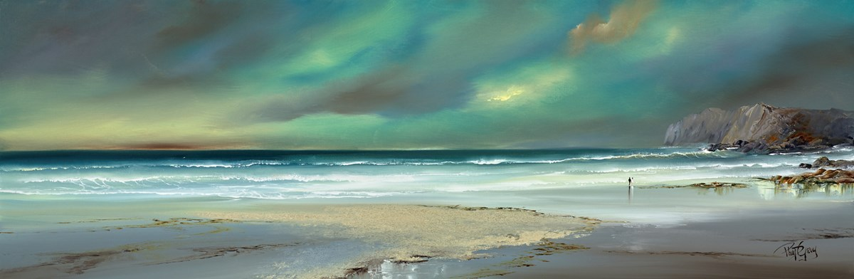 A Seaside Walk I by philip gray -  sized 48x16 inches. Available from Whitewall Galleries